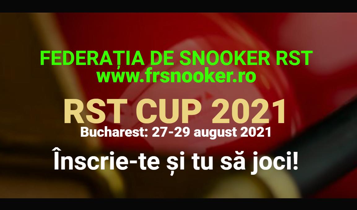 Federația de Snooker RST - RST CUP 2021